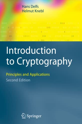 9783642080401: Introduction to Cryptography: Principles and Applications (Information Security and Cryptography)