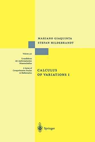 9783642080746: Calculus of Variations I (Grundlehren der mathematischen Wissenschaften)