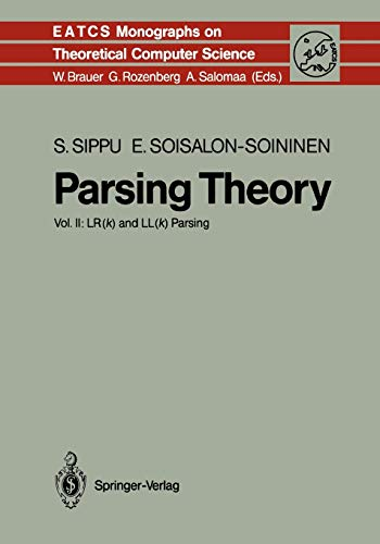 9783642080791: Parsing Theory: Volume Ii Lr(K) And Ll(K) Parsing