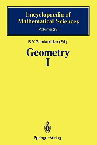9783642080852: Geometry I: Basic Ideas and Concepts of Differential Geometry (Encyclopaedia of Mathematical Sciences)