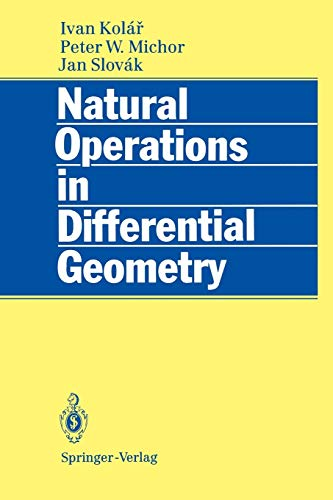 9783642081491: Natural Operations in Differential Geometry