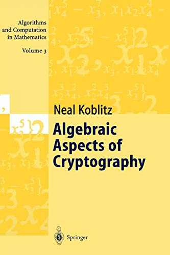 9783642083327: Algebraic Aspects of Cryptography: Volume 3 (Algorithms and Computation in Mathematics)