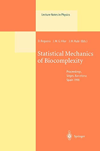 9783642085536: Statistical Mechanics of Biocomplexity: Proceedings of the XV Sitges Conference, Held at Sitges, Barcelona, Spain, 8-12 June 1998 (Lecture Notes in Physics)
