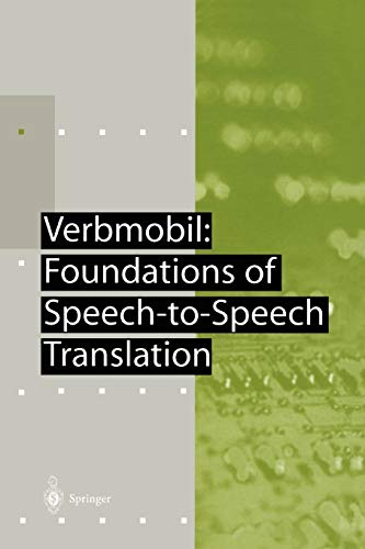 9783642087301: Verbmobil: Foundations of Speech-to-Speech Translation (Artificial Intelligence)
