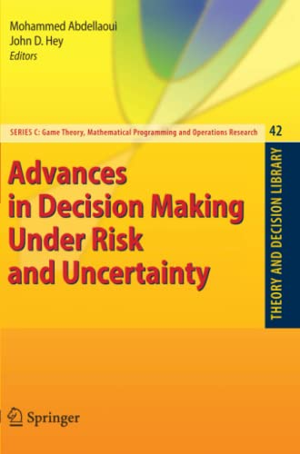 9783642088001: Advances in Decision Making Under Risk and Uncertainty (Theory and Decision Library C)