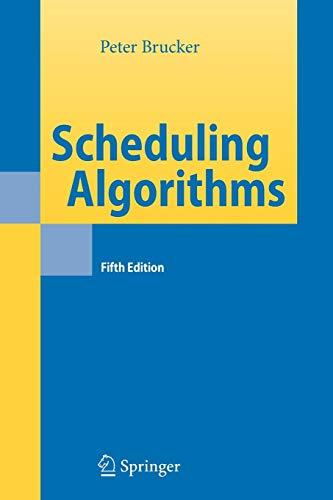 9783642089077: Scheduling Algorithms