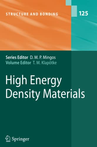 9783642091353: High Energy Density Materials (Structure and Bonding)