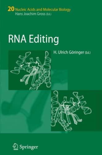 9783642092992: RNA Editing (Nucleic Acids and Molecular Biology)
