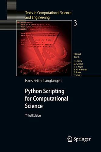9783642093159: Python Scripting for Computational Science 3e