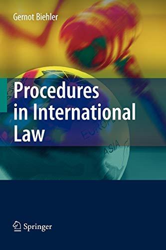 9783642093913: Procedures in International Law