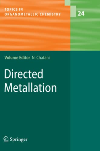 9783642094934: Directed Metallation (Topics in Organometallic Chemistry)
