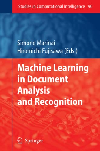 Machine Learning in Document Analysis and Recognition Studies in Computational Intelligence