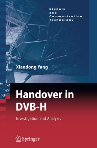 9783642097386: Handover in DVB-H: Investigations and Analysis (Signals and Communication Technology)