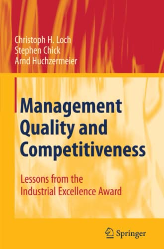 9783642098062: Management Quality and Competitiveness: Lessons from the Industrial Excellence Award