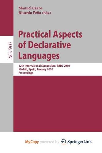 9783642115042: Practical Aspects of Declarative Languages