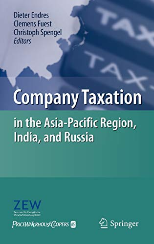 9783642122163: Company Taxation in the Asia-Pacific Region, India, and Russia