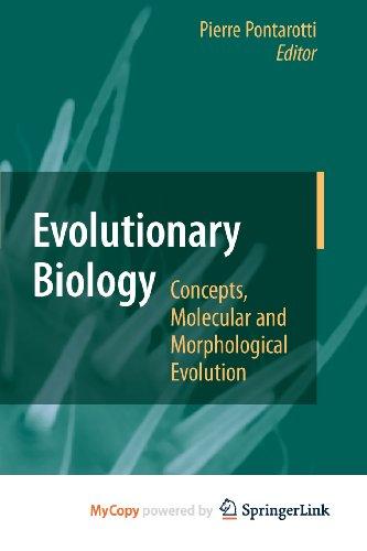 9783642123412: Evolutionary Biology - Concepts, Molecular and Morphological Evolution