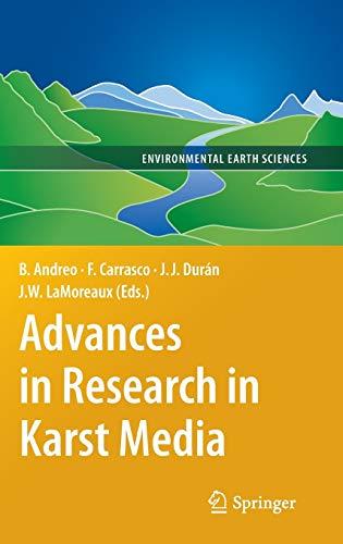 Advances in Research in Karst Media: Francisco Carrasco
