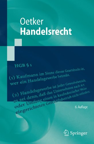 9783642129773: Handelsrecht (Springer-Lehrbuch) (German Edition)