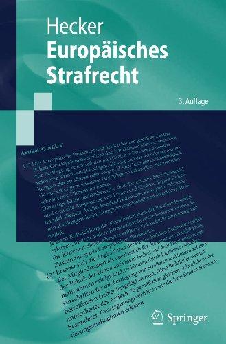 Europäisches Strafrecht (Springer-Lehrbuch) (German Edition): Hecker, Bernd
