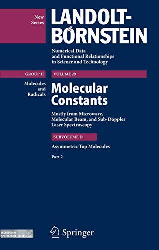 Asymmetric Top Molecules, Part 3 (Hardcover): Jean Demaison