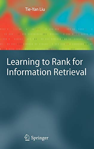 9783642142666: Learning to Rank for Information Retrieval