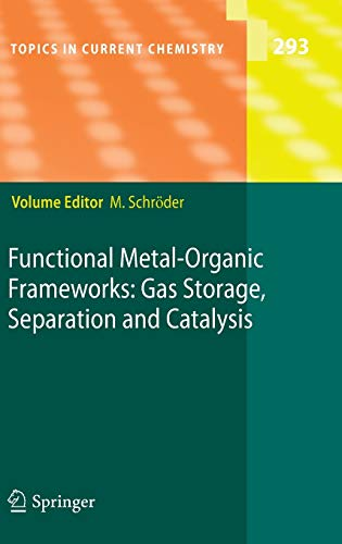 9783642146121: Functional Metal-Organic Frameworks: Gas Storage, Separation and Catalysis (Topics in Current Chemistry)
