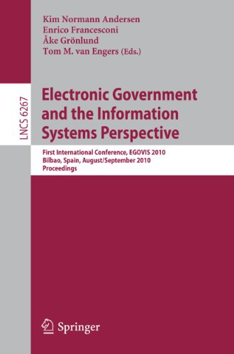 Electronic Government and the Information Systems Perspective: First International Conference, ...