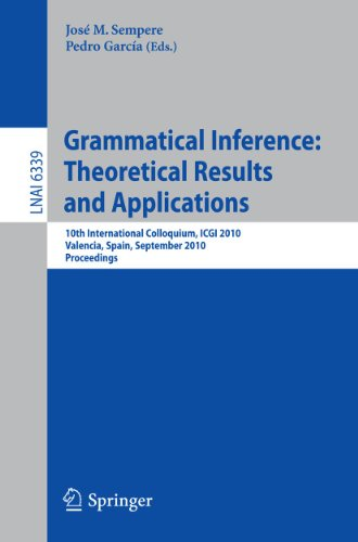 Grammatical Inference: Theoretical Results and Applications: 10th International Colloquium, ICGI ...