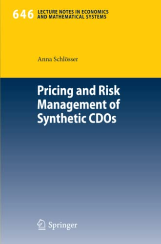 9783642156083: Pricing and Risk Management of Synthetic CDOs (Lecture Notes in Economics and Mathematical Systems)