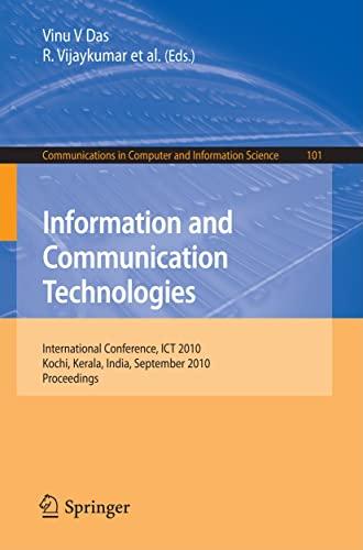 Information and Communication Technologies (Paperback): Vinu V Das