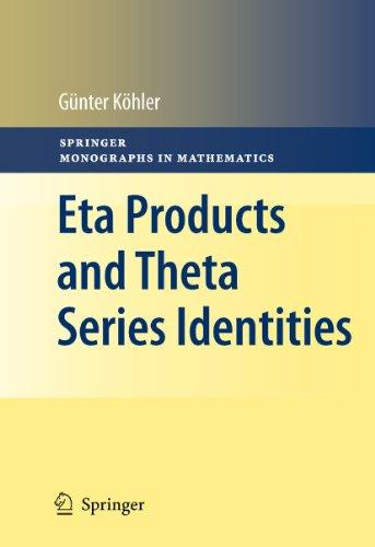 9783642161513: Eta Products and Theta Series Identities (Springer Monographs in Mathematics)