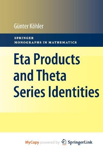 9783642161537: Eta Products and Theta Series Identities