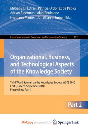 9783642163258: Organizational, Business, and Technological Aspects of the Knowledge Society