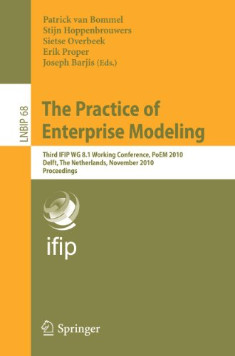 The Practice of Enterprise Modeling: Third IFIP WG 8.1 Working Conference, PoEM 2010, Delft, the ...