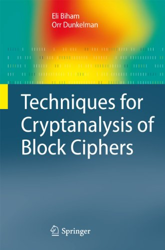 9783642172311: Techniques for Cryptanalysis of Block Ciphers (Information Security and Cryptography)