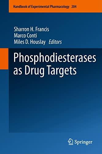 Phosphodiesterases as Drug Targets (Hardcover)