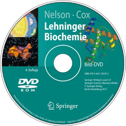 Bild-DVD, Nelson, Cox: Lehninger Biochemie: Die Abbildungen des Buches (Springer-Lehrbuch) (German Edition) (3642183107) by Nelson, David; Cox, Michael