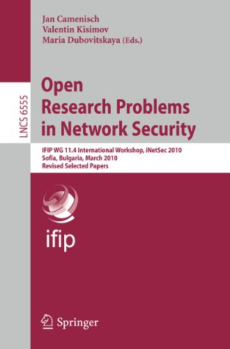 Open Research Problems in Network Security: Jan Camenisch (editor),