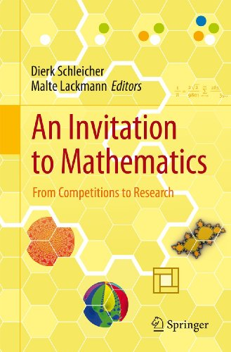 9783642195327: An Invitation to Mathematics: From Competitions to Research