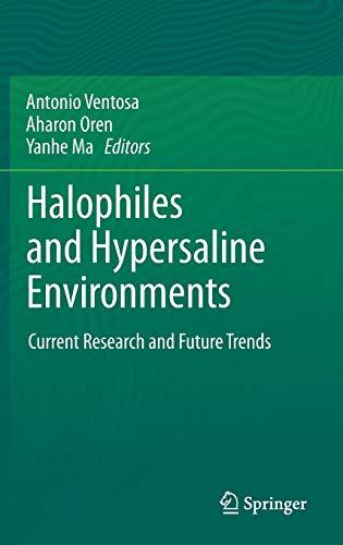 Halophiles and Hypersaline Environments: Antonio Ventosa