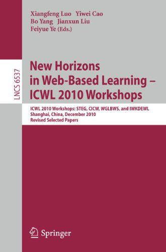 New Horizons in Web Based Learning ICWL: Xiangfeng Luo