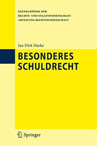 9783642206481: Besonderes Schuldrecht (Enzyklopädie der Rechts- und Staatswissenschaft) (German Edition)