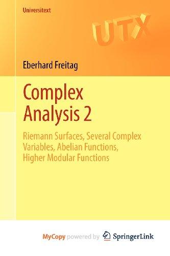 9783642207013: Complex Analysis 2