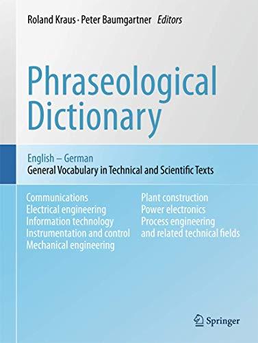 Phraseological Dictionary English - German: Roland Kraus