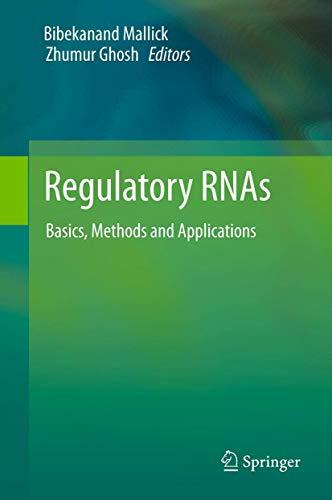 9783642225161: Regulatory Rnas: Basics, Methods and Applications
