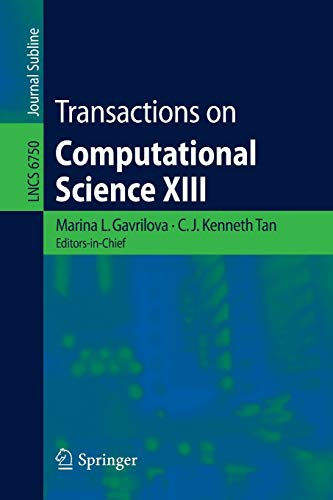 9783642226182: Transactions on Computational Science XIII (Lecture Notes in Computer Science)