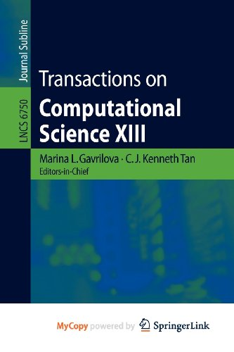 9783642226205: Transactions on Computational Science XIII