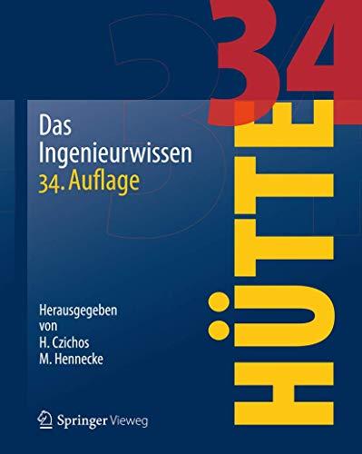 9783642228490: HÜTTE - Das Ingenieurwissen