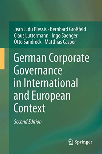 German Corporate Governance in International and European: Jean J. du